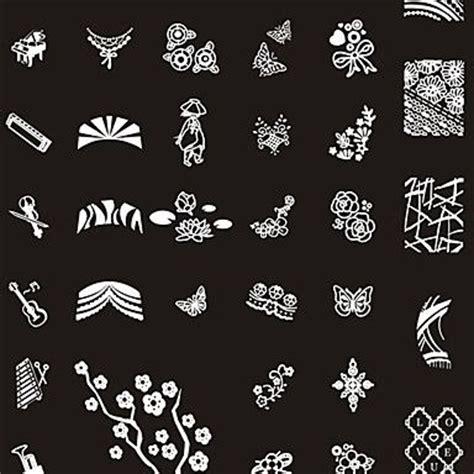 templates for nail art 249 designs nail art st image plate big nail art