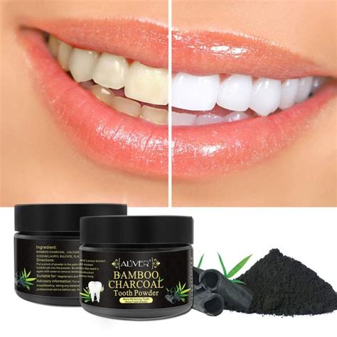 aliver teeth whitening powder natural activated charcoal