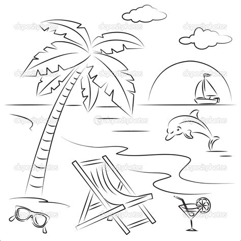 printable images beach free adult coloring pages beach scenes download adult