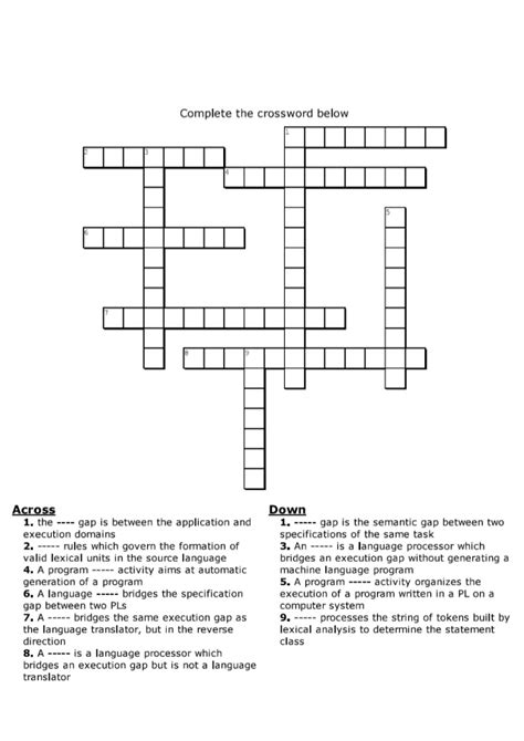 bookstore section crossword crossword puzzle chapter 2 assembler
