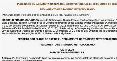 reglamento transito metropolitano 2015 reglamento de transito df 2014 2015 en pdf area