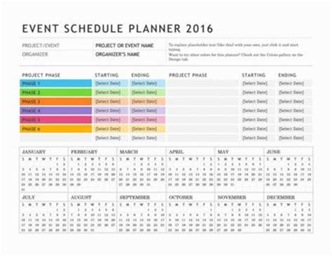 event organisation template free digital or printable calendar templates for microsoft