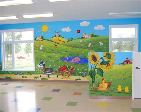 playroom wall murals 103 best farm mural images on animal paintings