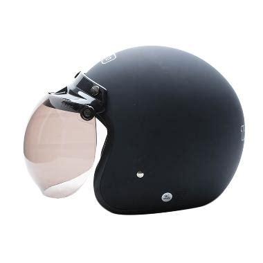 Helm Cargloss Retro Hitam Doff Pet produk helm kaca pet bogo blibli