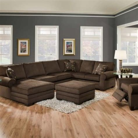 Living Room Colors Gray Walls Brown Sofa