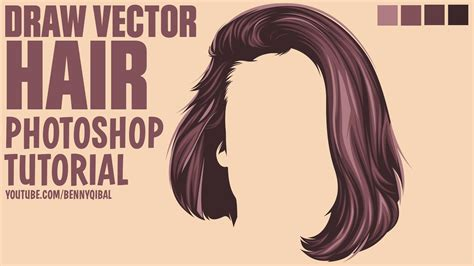 sketch to vector tutorial draw vector hair photoshop tutorial doovi