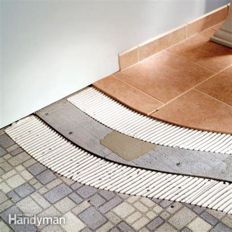 how to tile a bathroom how to tile bathroom floors the family handyman