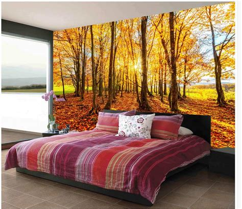 aliexpress com buy beautiful woods wallpaper custom wall compare prices on beautiful autumn wallpaper online