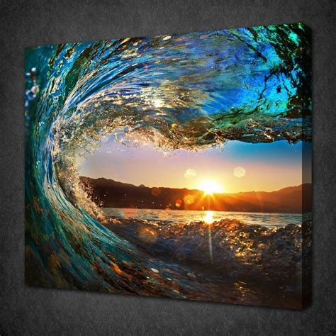 cheap art prints not framed canvas print large canvas art cheap sea vie waves home office decor ebay
