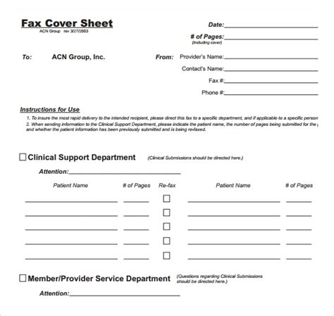 28 Fax Cover Sheet Templates Sle Templates Fax Cover Sheet Template Pdf
