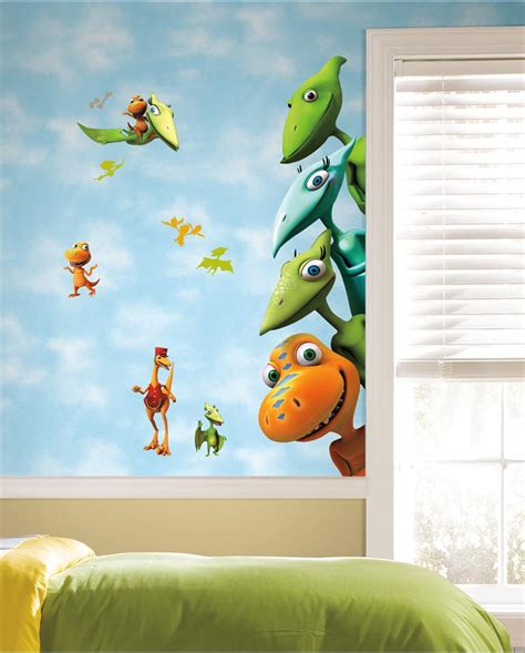 dinosaurs wall stickers bedroom new large dinosaur train wall decals kids dinosaurs room