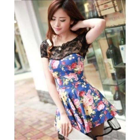 Ransel Korea Bunga Import dress wanita korea corak bunga d953 moro fashion