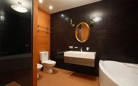 10 stylish colored bathrooms modern sleek combinations 10 modern bathroom designs and ideas in orange color