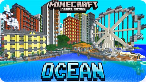 minecraft pe map minecraft pe maps amazing deepocean city map ios