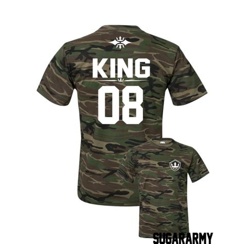 camouflage king t shirt special edition custom number sugararmy
