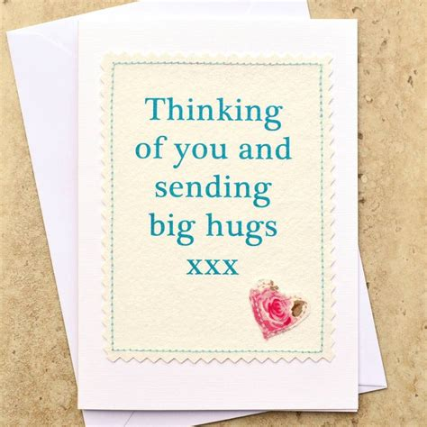 Big Handmade Cards - thinking of you and sending big hugs card cards handmade