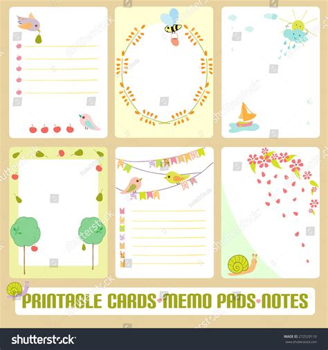 Memo Template Vector Cards Notes Labels Tags Vector Stock Vector