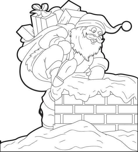 coloring pages santa chimney free printable santa claus coloring page for kids 4