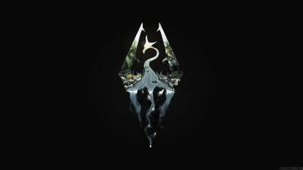 dragons logos the elder scrolls v: skyrim wallpaper | (70295)