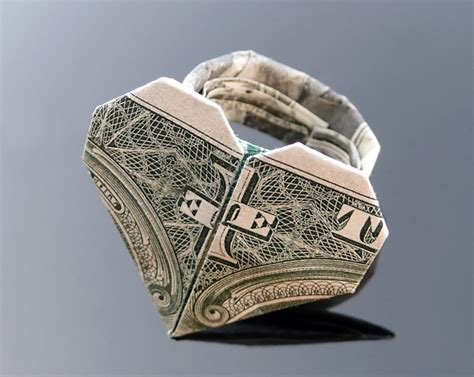 1 Dollar Origami - dollar bill origami ring by craigfoldsfives on deviantart origami eggery