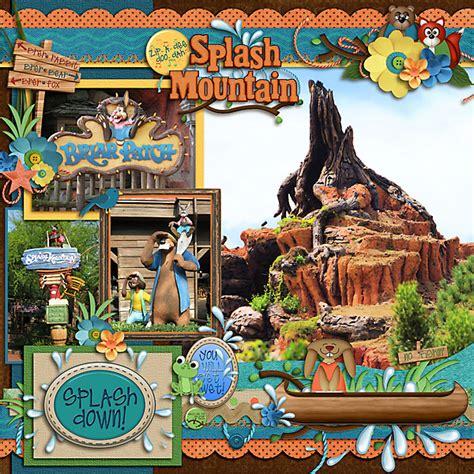 scrapbook layout disneyland ideas splash mountain page 8 mousescrappers com scrapbook