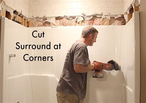 how to cut a bathtub how to remove a fiberglass bathtub and surround in 60