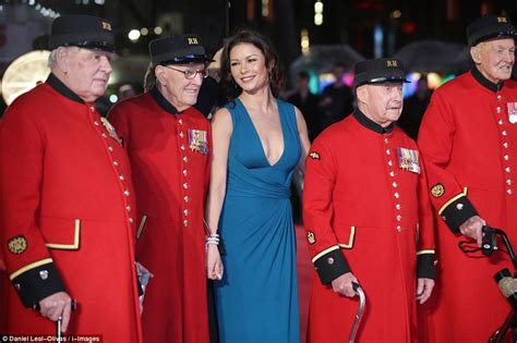 premier black matt jones 18 jersey brilliant p 738 catherine zeta jones joins chelsea pensioners at s
