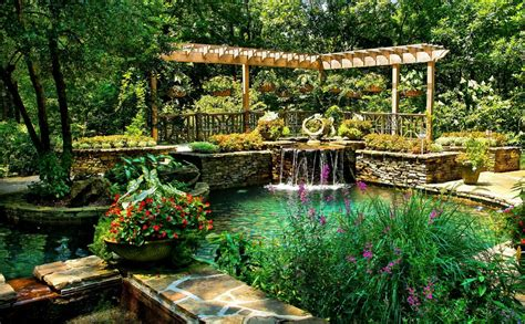 usa park pond waterfall ball ground gibbs garden nature