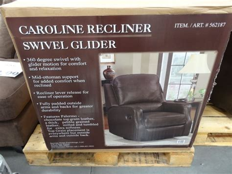 synergy caroline leather recliner swivel glider synergy caroline leather recliner swivel glider