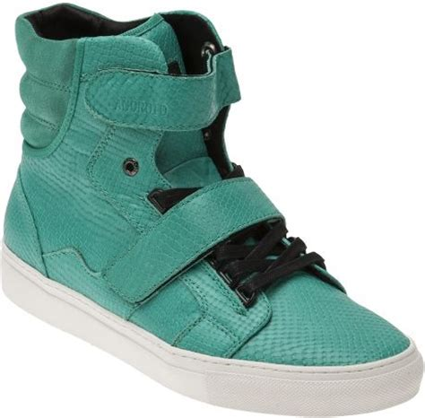 android homme shoes android homme propulsion hi shoe in green for white lyst
