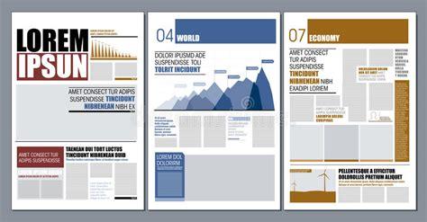 newspaper layout design software free download moder design newspaper stock illustration illustration of