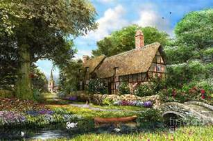 summer country cottage digital by dominic davison