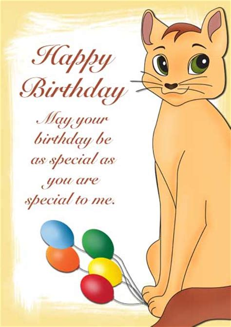 printable birthday cards cats free free printable pet birthday cards