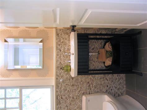 stone mosaic half bath in meridian kessler wrightworks llc 17 best images about basement renovations on pinterest