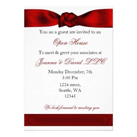 20 best images about open house business invitations on