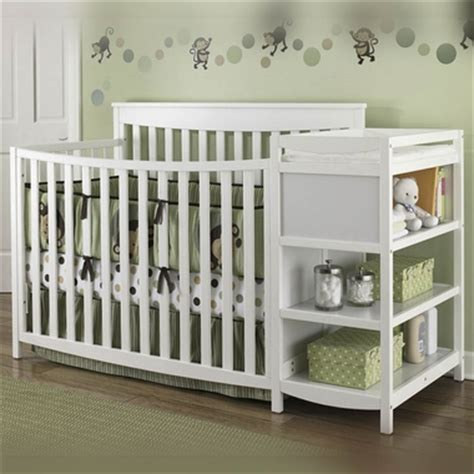 Changing Table Attached To Crib Convertible Baby Cribs Get The Best In Safety And Comfort