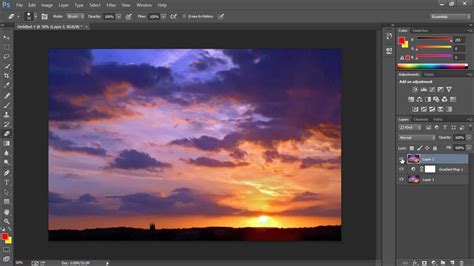 tutorial photoshop sunset photoshop cc tutorial how to create a sunset youtube