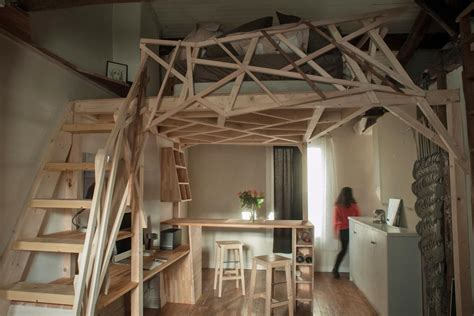 living in a studio this small studio apartment alternates as a wooden