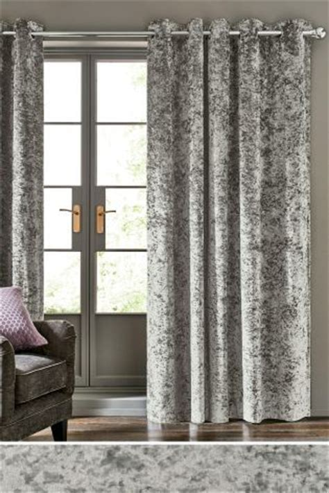next online curtains buy crushed velvet eyelet curtains online today at next
