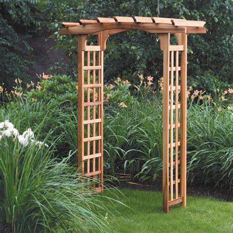 Cedar Garden Trellis Pergola Arbor Lawn Patio Solid Wood Wooden Cedar Garden