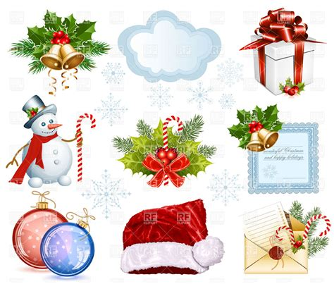 images of christmas objects big collection of christmas objects royalty free vector