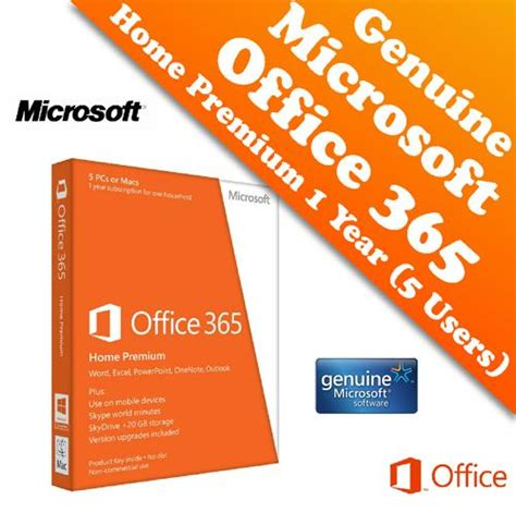 Office 365 Premium by Genuine Microsoft Office 365 Home Pr End 4 30 2018 2 15 Pm