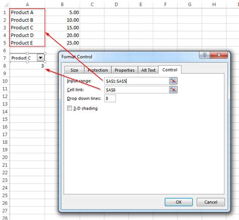 format excel drop down microsoft excel 2013 on windows 7 creating cost based on