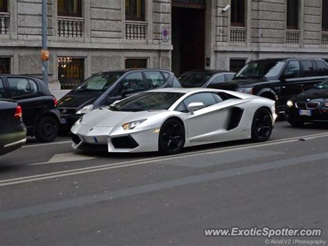 Italy Lamborghini by Lamborghini Aventador Spotted In Milan Italy On 02 15 2013