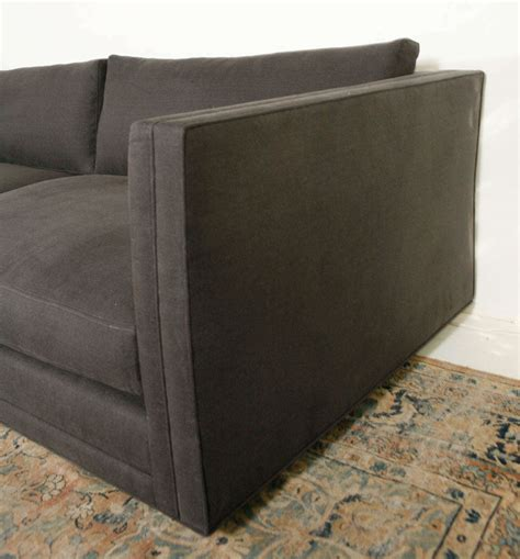 Modern Sofa Grey Nk Collection Modern Sofa In Grey Linen For Sale At 1stdibs