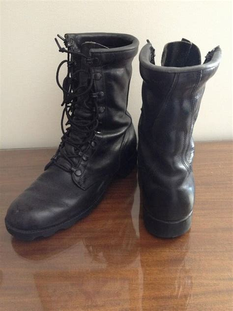badass boots for vintage black biker badass leather boots mens 8 5 womens
