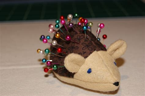 pin cusion being inspired day 15 hedgehog pin cushion