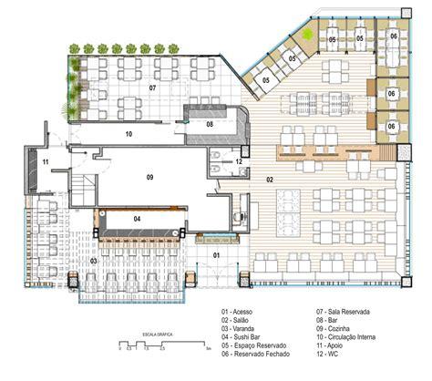 layout de un hotel galeria de restaurante kotobuki ivan rezende arquitetura