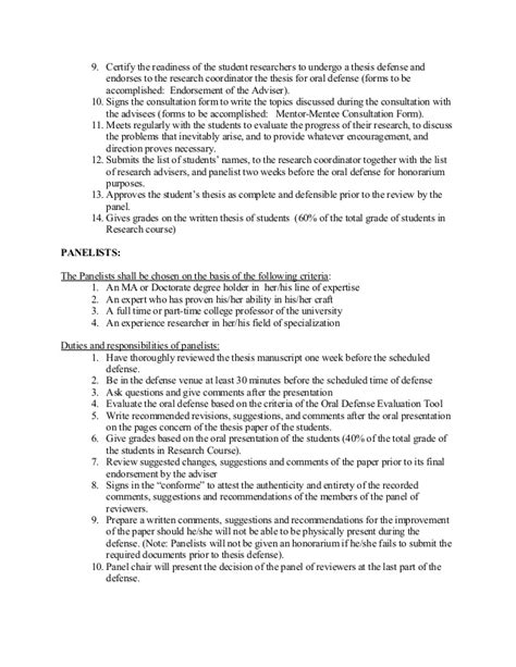 undergraduate thesis advisor guidelines for the undergraduate thesis with remarks
