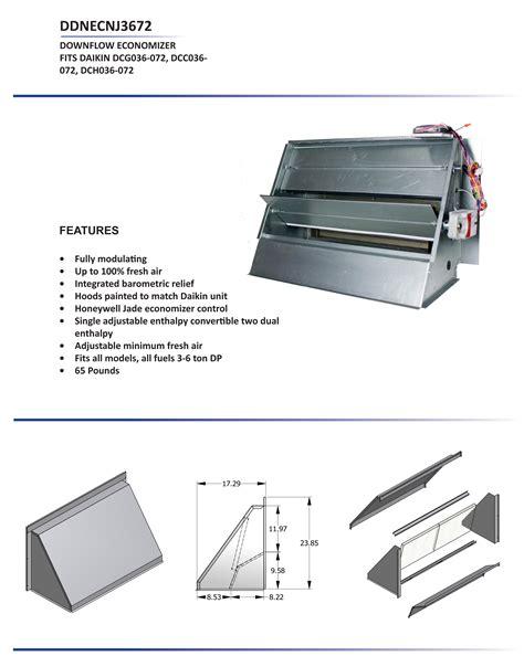 design and application guide for honeywell economizer controls 3 6 ton daikin downflow economizer dcc dcg dch models